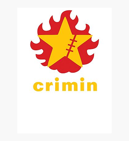 Crimin Brand Fire Star Photographic Print
