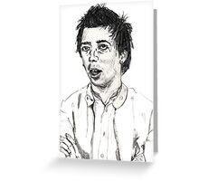 Pete Shelley - Buzzcocks Greeting Card