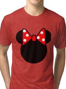 Minnie Mouse head Tri-blend T-Shirt