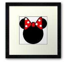 Minnie Mouse head Framed Print