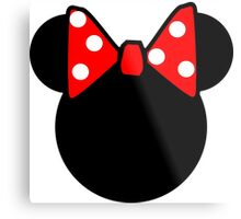Minnie Mouse head Metal Print