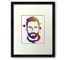 Adam Levine Colorful Framed Print