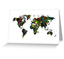World map composition 1 Greeting Card