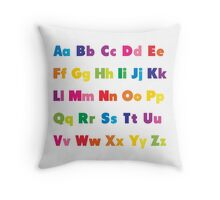 Alphabet BRIGHTS! A, B, C... Throw Pillow