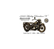 Vintage Motorcycle 02 Photographic Print