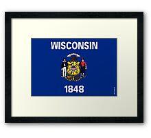 Wisconsin State Flag Framed Print