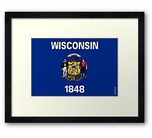 Wisconsin State Flag Framed Print