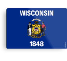 Wisconsin State Flag Metal Print