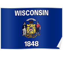Wisconsin State Flag Poster