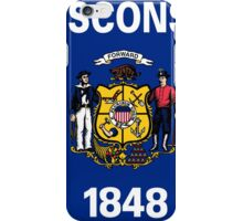 Wisconsin State Flag iPhone Case/Skin