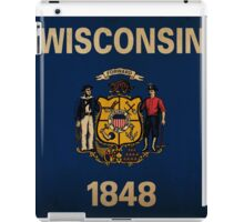 Wisconsin State Flag VINTAGE iPad Case/Skin