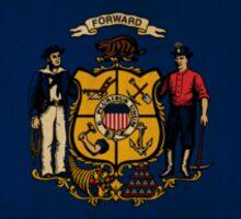 Wisconsin State Flag VINTAGE Sticker