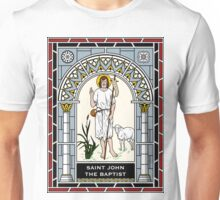 ST JOHN THE BAPTIST under STAINED GLASS Unisex T-Shirt