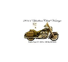 Vintage Motorcycle 04 Photographic Print