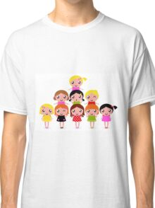 Cute little kids. Cartoon illustration. Classic T-Shirt