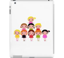 Cute little kids. Cartoon illustration. iPad Case/Skin