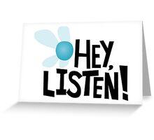 HEY. Greeting Card