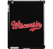 Wisconsin Script VINTAGE Red iPad Case/Skin