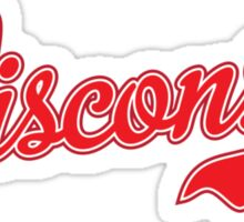 Wisconsin Script Red Sticker