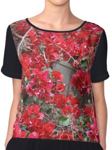 Red Bougainvilleas  Chiffon Top