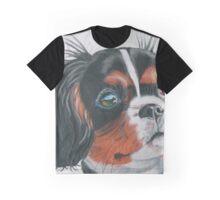 Sandy - King Charles Spaniel Tri Color Graphic T-Shirt