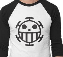 Heart Pirates Jolly Roger Men's Baseball ¾ T-Shirt