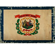 West Virginia State Flag VINTAGE Photographic Print