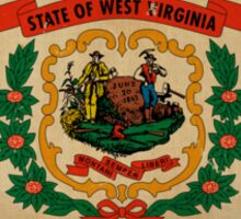 West Virginia State Flag VINTAGE Sticker