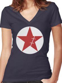 Zoro Crimin Star Women's Fitted V-Neck T-Shirt