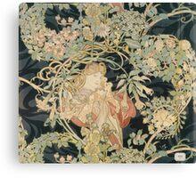 Alphonse Mucha - Eugene Samuel Grasset - Alphonse Mucha - Femme a La Marguerite1899  Canvas Print