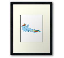 Rainbow Dash - Chilling Framed Print