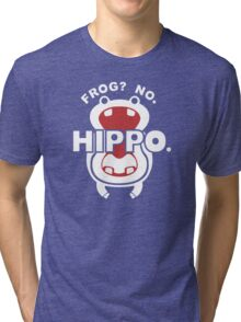 Frog?  No. Hippo. Tri-blend T-Shirt
