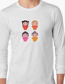 Colorful Geisha characters : original Artworks Long Sleeve T-Shirt