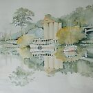 Misty Morning on the Tamar by M Sluce by Wendy Dyer