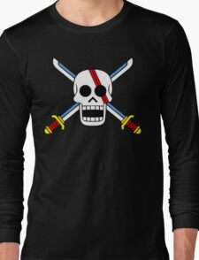 Red Hair Pirates Jolly Roger Long Sleeve T-Shirt