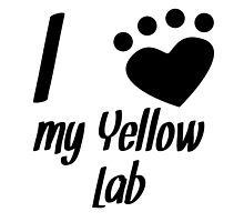 I Heart My Yellow Lab by kwg2200