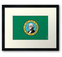 Washington State Flag Framed Print