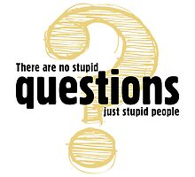 There Are Not Stupid Questions by artpolitic