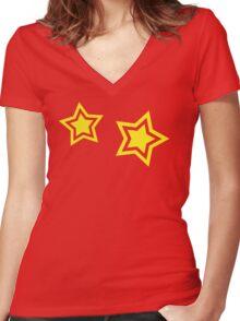 Primal Stars Women's Fitted V-Neck T-Shirt