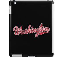 Washington Script Red VINTAGE iPad Case/Skin