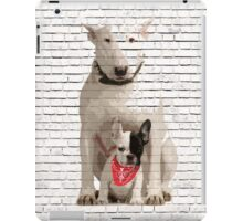 English Bull Terrier & Frenchie Friend Banksy Style iPad Case/Skin