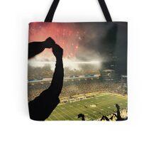 Football Night in Pittsburgh Tote Bag