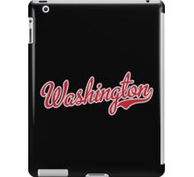 Washington Script Red iPad Case/Skin