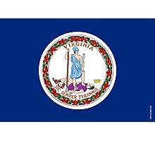 Virginia State Flag Photographic Print