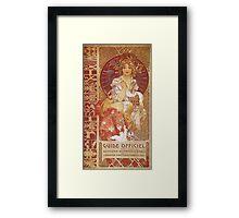 Alphonse Mucha - Guide Officiel Des Sections Autrichiennes De L Exposition Universelle De Paris Framed Print