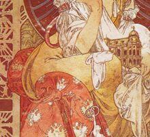 Alphonse Mucha - Guide Officiel Des Sections Autrichiennes De L Exposition Universelle De Paris Sticker