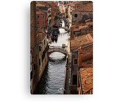 Red Roofs of Venice Canvas Print