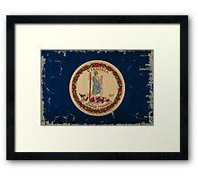 Virginia State Flag VINTAGE Framed Print