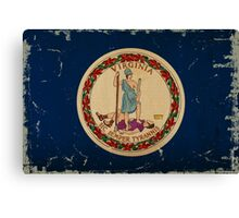 Virginia State Flag VINTAGE Canvas Print