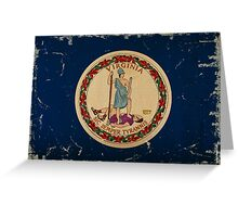 Virginia State Flag VINTAGE Greeting Card
